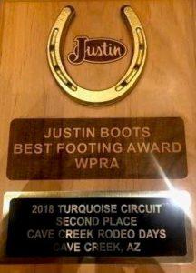 2018 Justin Best Footing Award1