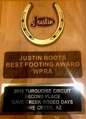 2018 Justin Best Footing Award1